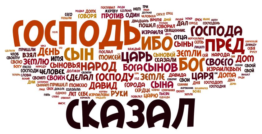 Часто употребляемые слова в Ветхом Завете - визуализация