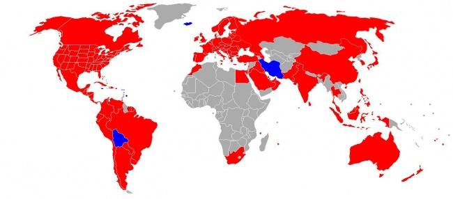 Распространение МакДональдса. Карта