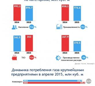 Инфографика: Воспитание гривней: как меняется потребление газа после повышения цен