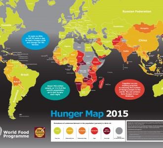 Визуализация: мировая карта голода